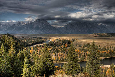 Photograph - Snake River Storm by Wes and Dotty Weber