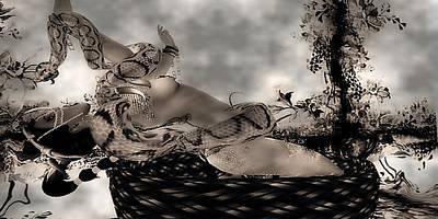 Digital Art - Snake by Theda Tammas
