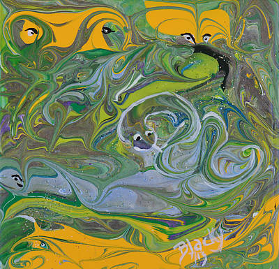 Painting - Snakes In The Grass by Donna Blackhall