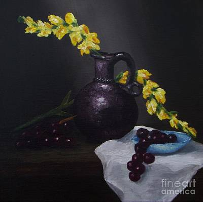 Painting - Snap Dragons And Grapes by Michelle Welles
