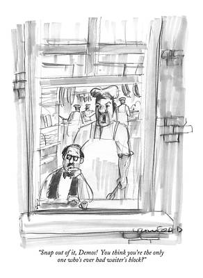 Kitchen Window Drawing - Snap by Michael Crawford