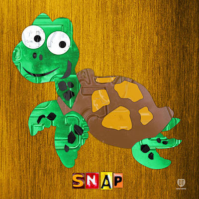 Sea Turtles Mixed Media - Snap The Sea Turtle License Plate Art by Design Turnpike