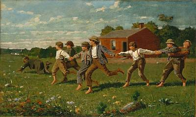 Victorian Painting - Snap The Whip 1872 by Philip Ralley