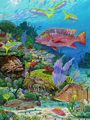 Blue Marlin Painting - Snapper Reef Re0028 by Carey Chen