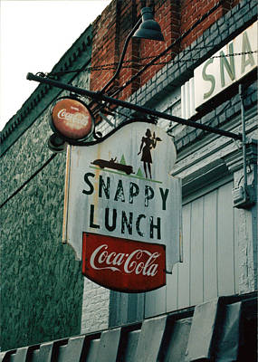 Snack Bar Photograph - Snappy's by Steve Godleski
