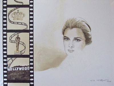 Grace Kelly Painting - Snapshot In Time Vi by Ingrid Stiehler