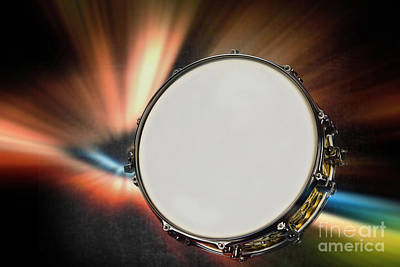 Photograph - Snare Drum For Drum Set In Color 3247.02 by M K Miller