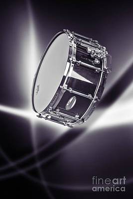 Photograph - Snare Drum For Drum Set In Sepia 3238.01 by M K Miller