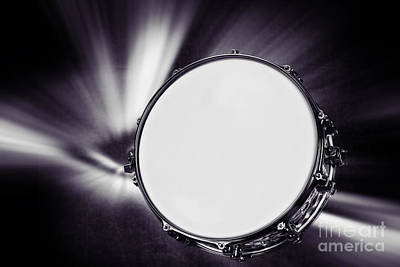 Jazz Photograph - Snare Drum For Drum Set In Sepia 3247.01 by M K  Miller