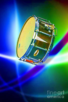 Snare Drum For Drum Set Painting In Color 3239.02 Art Print by M K  Miller