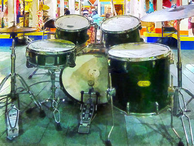 Bass Drum Photograph - Snare Drum Set by Susan Savad