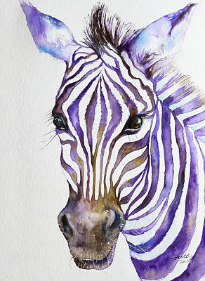 Snazzy_ Purple Stripes Art Print