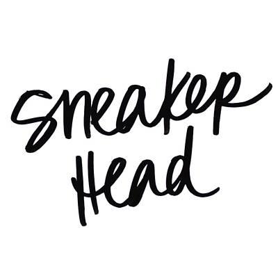 Sneaker Digital Art - Sneaker Head by Sd Graphics Studio