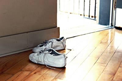 Sneakers On The Floor Original by Darius Matuliukstis