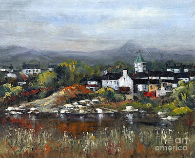 Painting - Kerry... Sneem Village  by Val Byrne