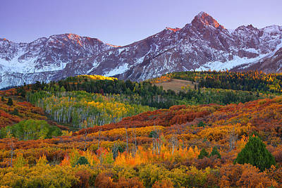 Southwest Landscape Photograph - Sneffels Sunrise by Darren  White