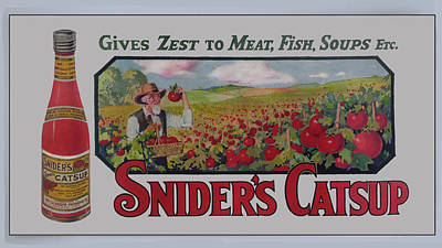 Snider's Catsup Art Print by Woodson Savage