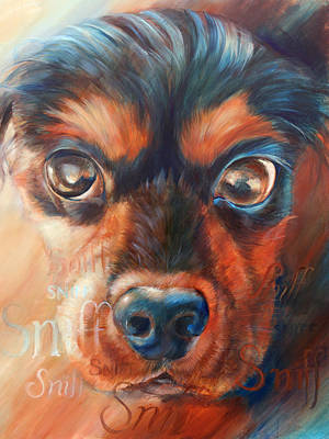 Sniffing Painting - Sniff by Vanessa Bates