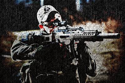 Army Photograph - Sniper by VRL Art