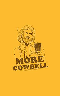 Show Digital Art - Snl - Illustrated Cowbell by Brand A