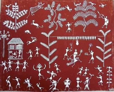Indian Tribal Art Painting - Snm 09 by Sunita Sadashiv Mashe
