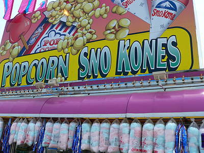 Photograph - Sno Kones Carnival Signs by Jeff Lowe