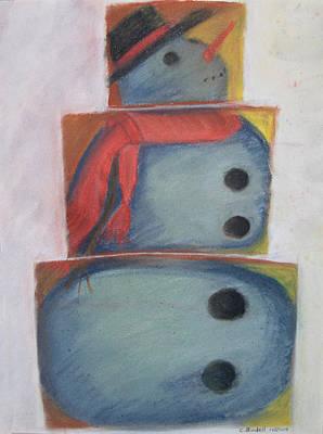 S'no Man Art Print by Claudia Goodell