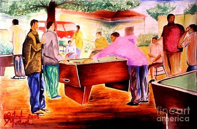 Landscape-like Art Painting - Snooker Guru  by Moscolexy Moscolexy