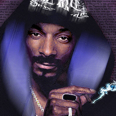 Fan Art Painting - Snoop And Lyrics by Tony Rubino