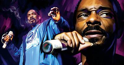 Rapper Mixed Media - Snoop Dogg Artwork by Sheraz A