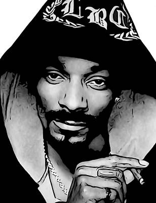 Beach Hop Digital Art - Snoop Dogg by Dan Sproul