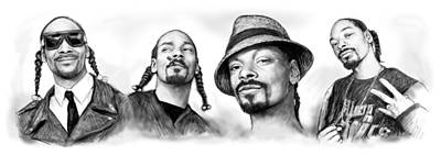 Calvin Drawing - Snoop Dogg Group Art Drawing Sketch Poster 30x85cm by Kim Wang