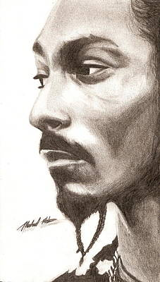 Digital Art - Snoop Dogg by Michael Mestas