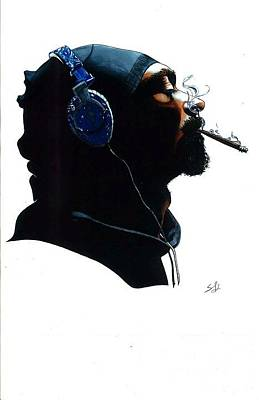 Hop Drawing - Snoop Dogg by Steven Kuc