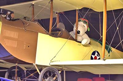 Photograph - Snoopy In His Biplane by Gordon Elwell