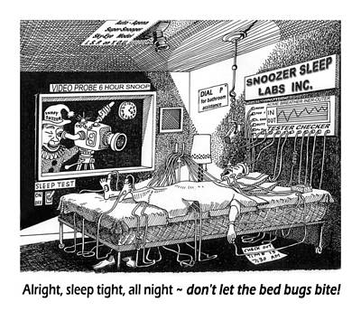 Snoozer Sleep Lab Study Art Print by Jack Pumphrey