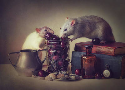 Rodent Wall Art - Photograph - Snoozy And Jimmy by Ellen Van Deelen