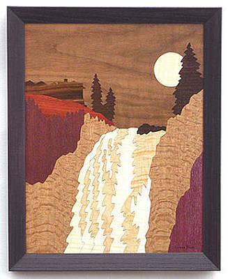 Colorado Rockies Drawing - Snoqualmie Falls #16505 by Lynne Buss