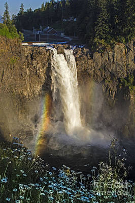 Photograph - Snoqualmie Falls Summer by Sonya Lang
