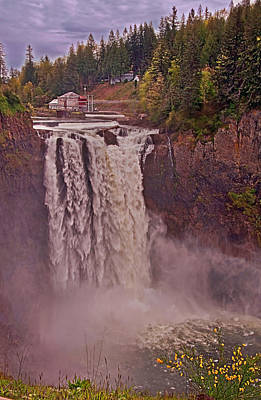 Photograph - Snoqualmie Falls Washington In Spring by Valerie Garner