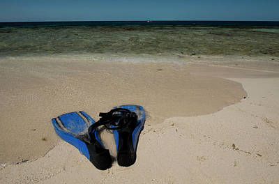 Flippers Photograph - Snorkel Set On The Beach, Caribbean by Panoramic Images