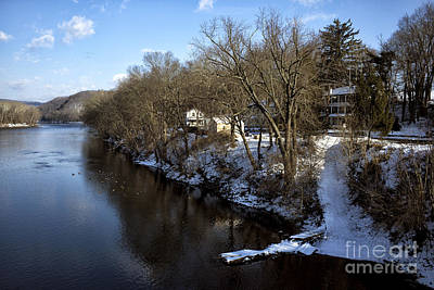 Photograph - Snow Along The Delaware River by John Rizzuto