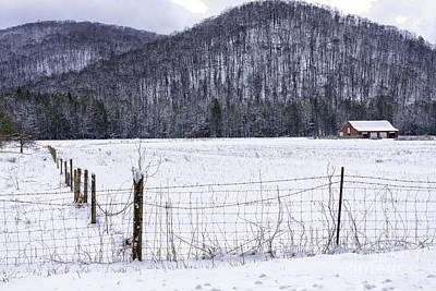 Barns In Snow Photograph - Snow And Barn by Thomas R Fletcher