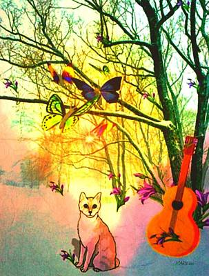Digital Art - Snow And Butterfly Dreams by Mary Anne Ritchie