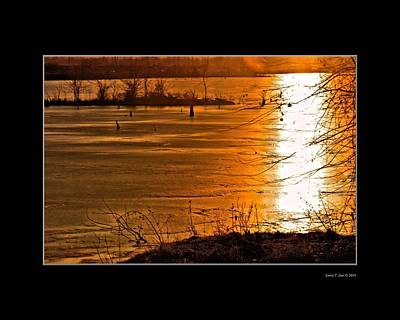 Sunset Photograph - Snow And Ice Sunset by Larry Jost