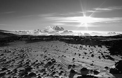 Photograph - Snow And Lava Field by Scott Rackers