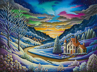 Unreal Painting - Snow by Andy Russell