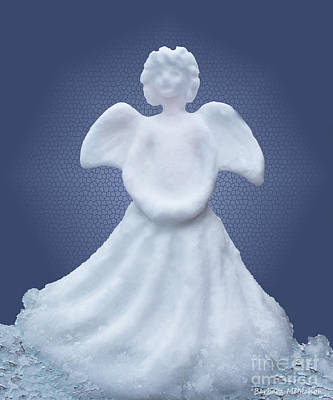 Snow Angel Print by Barbara McMahon