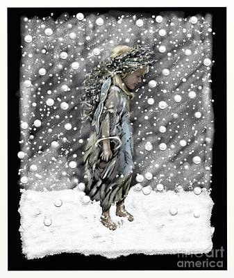 Snow Angel Art Print by Belinda Borradaile