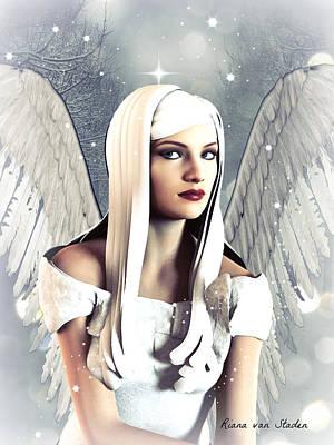 Digital Art - Snow Angel  by Riana Van Staden